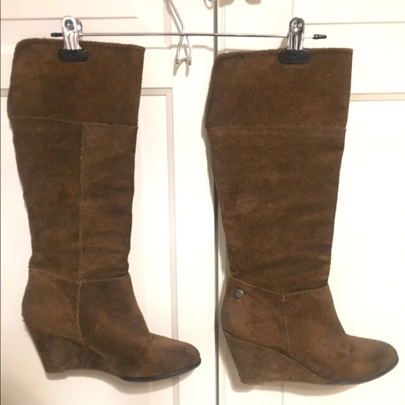 Vintage Suede Wedge Boot